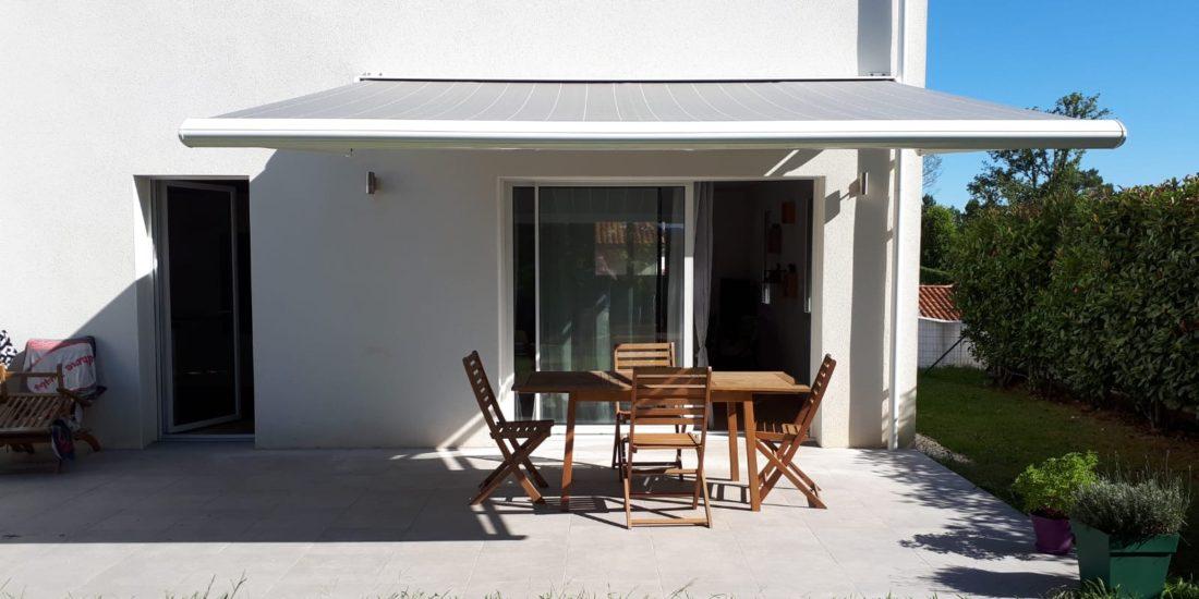 Store coffre extérieur pour terrasse Biarritz