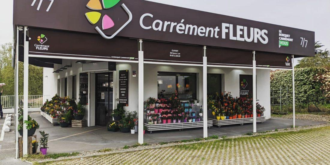 remplacement toile pour carrément fleurs à Bayonne